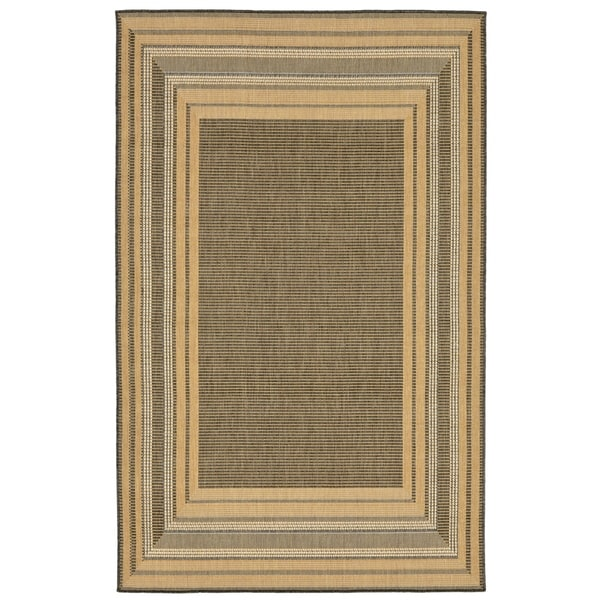 Line Border Outdoor Rug - 7'10 x 7'10