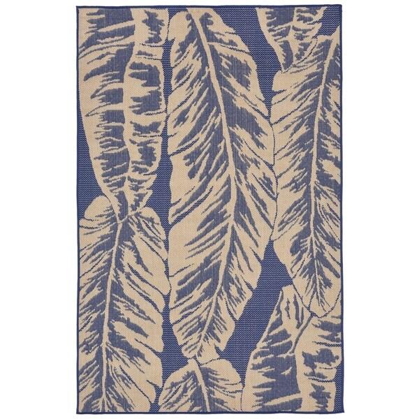 Tropical Leaf Outdoor Rug - 7'10 x 7'10
