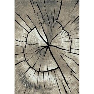 Central Oriental Rainier Oak Tree Black/Multicolor - 7'10 x 9'10
