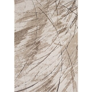 Central Oriental Rainier Elkader Ivory/Beige Area Rug - 7'10 x 9'10