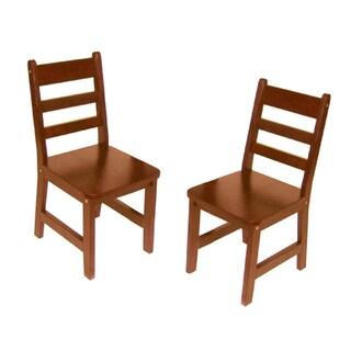 Lipper International Child's Set of 2 Chair-Cherry
