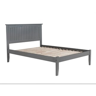 Nantucket Full Platform Bed with Open Foot Board in Atlantic Grey