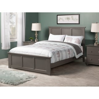 Madison Full Traditional Bed with Matching Foot Board in Atlantic Grey