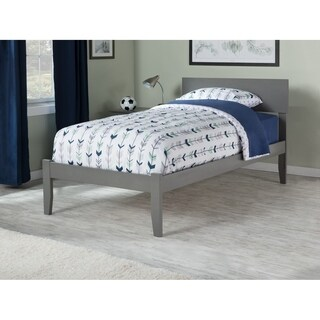 Orlando Twin XL Platform Bed with Open Foot Board in Atlantic Grey