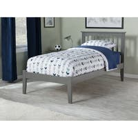 Mission Twin XL Platform Bed with Open Foot Board in Atlantic Grey