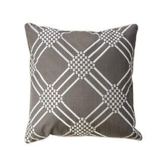 Furniture of America Diamond 20-inch Grey Throw Pillows (Set of 2)