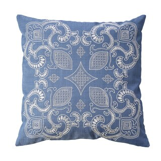 Furniture of America Peras 20-inch Blue Throw Pillows (Set of 2)