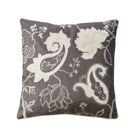Furniture of America Gael Contemporary Grey Throw Pillows Set of 2