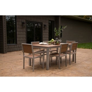 Wyndtree Aluminum with Recycled Plastic Outdoor Dining Table, Made in USA