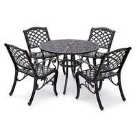 Aluminium Black 5pc Dining Set