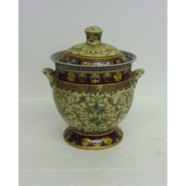 Empress Design Porcelain Cover Jar