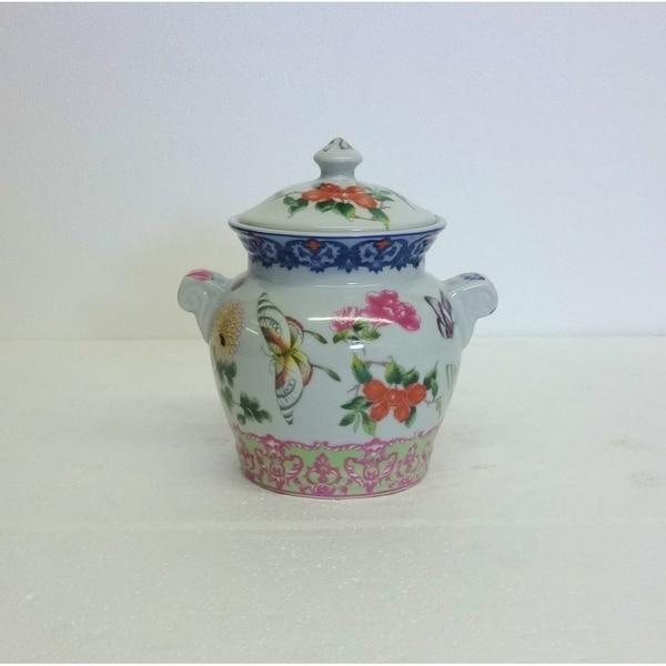 Spring Blooms Porcelain Cover Jar