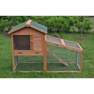ALEKO Chicken Hen Cage & Rabbit Hutch 56.5 x 25.6 x 39.4 inches