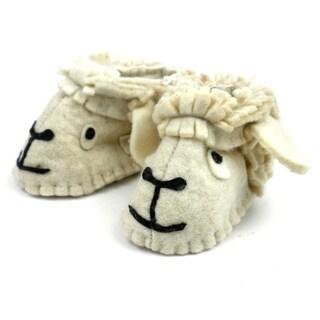 Handmade Lamb Felt Zooties - Baby Booties (Kyrgyzstan)