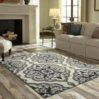 Maples Rugs Derby Oversized Floral Medallion Area Rug - 7' x 10'
