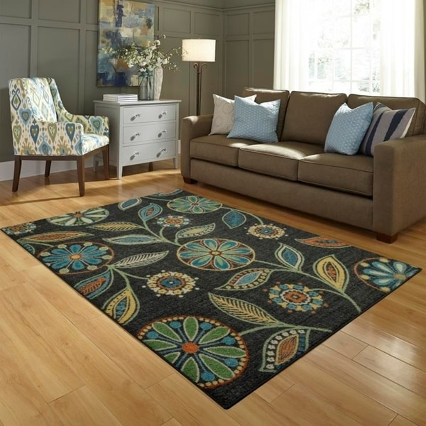 Shop Maples Rugs Whitby Gray Floral Area Rug Multi 7