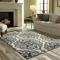 "Maples Rugs Derby Oversized Floral Medallion Accent Rug (2'6""x3'10"")"