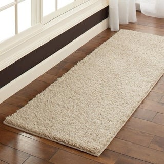 Maples Rugs Jayme Solid Shag Runner Rug (2'x6') - 2'x6'