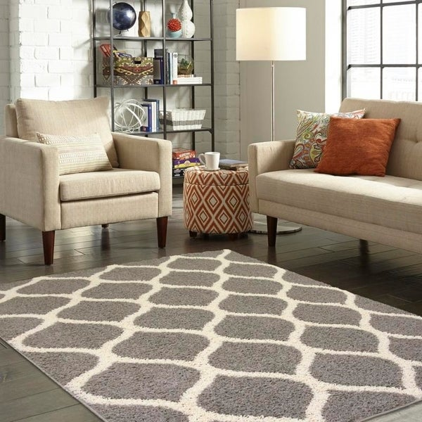 Shop Maples Rugs Dome Modern Ogee Area Rug 5 X7 Free