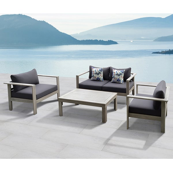 Gueliz 4 Piece Outdoor Conversation Patio Set