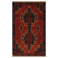 Handmade Herat Oriental Afghan Hand-Knotted Tribal Balouchi Wool Rug (Afghanistan) - 2'10 x 4'8