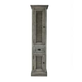 79 Rustic Solid Fir Side Cabinet In Grey Finish