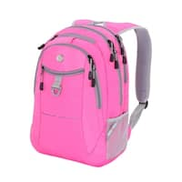 SwissGear Pink- Gray  18  inch  Laptop Backpack