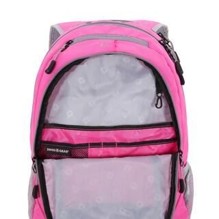 SwissGear Pink- Gray 18 inch Laptop Backpack