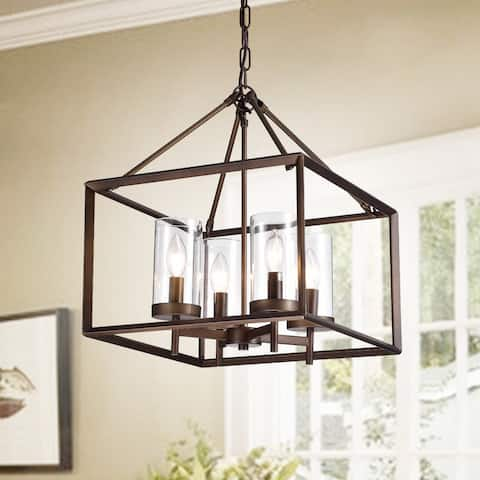 Esich Antique Bronze 4-light Pendant with Glass Shades