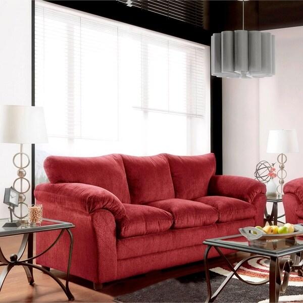 Superieur SofaTrendz Brady Burgundy Sofa