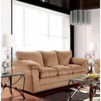 SofaTrendz Brady Tan Semi-soft Contemporary Sofa