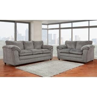 Copper Grove Malva Grey Sofa & Loveseat 2-piece Set