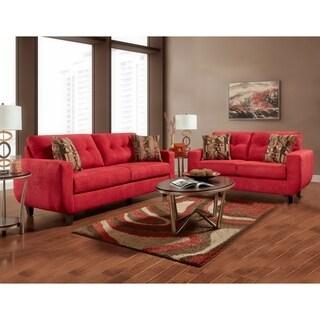 SofaTrendz Burlington Tufted Sofa & Loveseat 2-pc Set