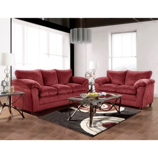 Ordinaire SofaTrendz Brady Burgundy Sofa U0026 Loveseat 2 Pc Set