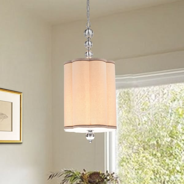 Natch 12-inch Chrome and Glass 4-light Pendant