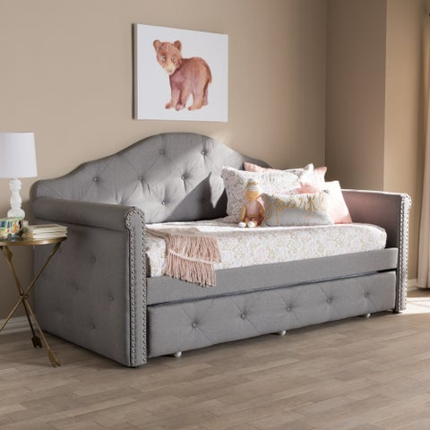 Contemporary Grey Fabric Daybed by Baxton Studio