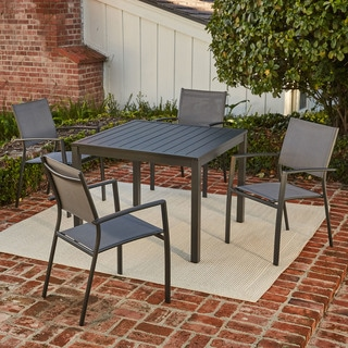 Hanover Naples 5-Piece Square Dining Set