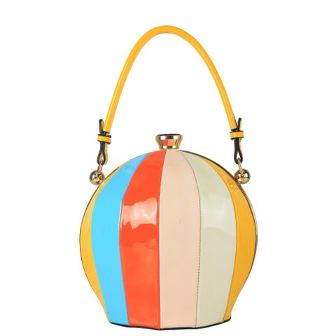 Rimen & Co. Rainbow Color Ball Shape Top Handle Handbag - S