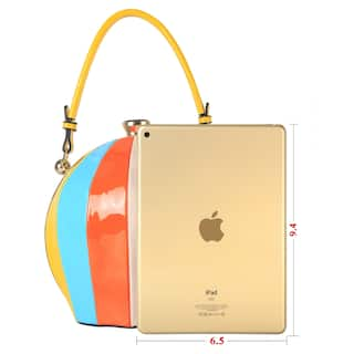 Rainbow Color Ball Shape Top Handle Handbag S