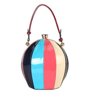 Rimen & Co. Rainbow Color Ball Shape Top Handle Handbag - S (Option: Purple)