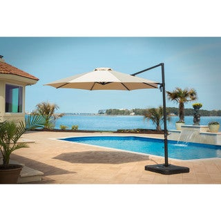 Hanover Tan Cantilever Umbrella