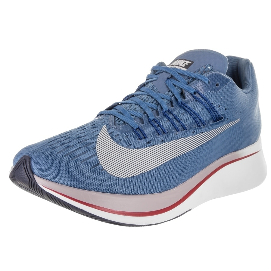 Nike Men's Zoom Fly Running Shoe (10), Blue (Synthetic Le...