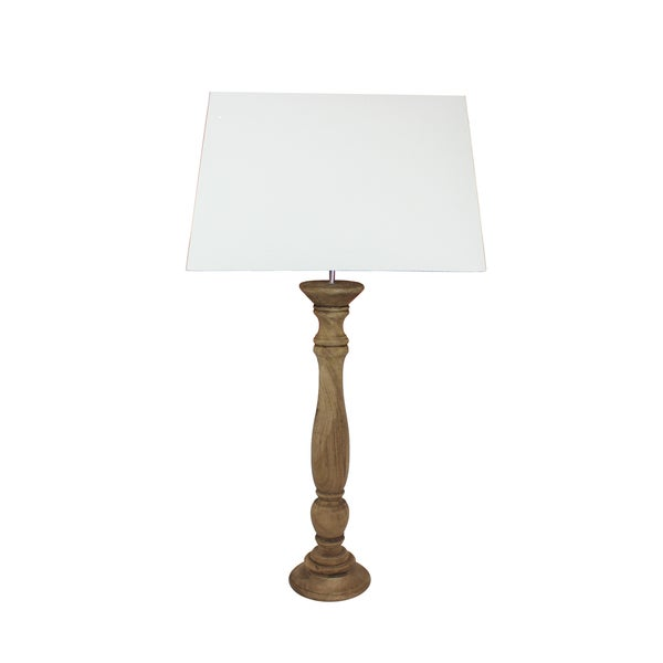 Urban Designs Livigna Tall 42-Inch Antique Round Brown Wood Table Lamp