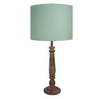 Urban Designs 29-Inch Candlestick Greywash Wood Table Lamp