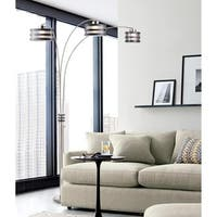 Nova Kobe Three-Light Arc Lamp, Charcoal Gray