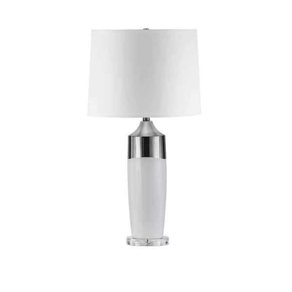 Nova Lighting Splash Table Lamp, Waxy White