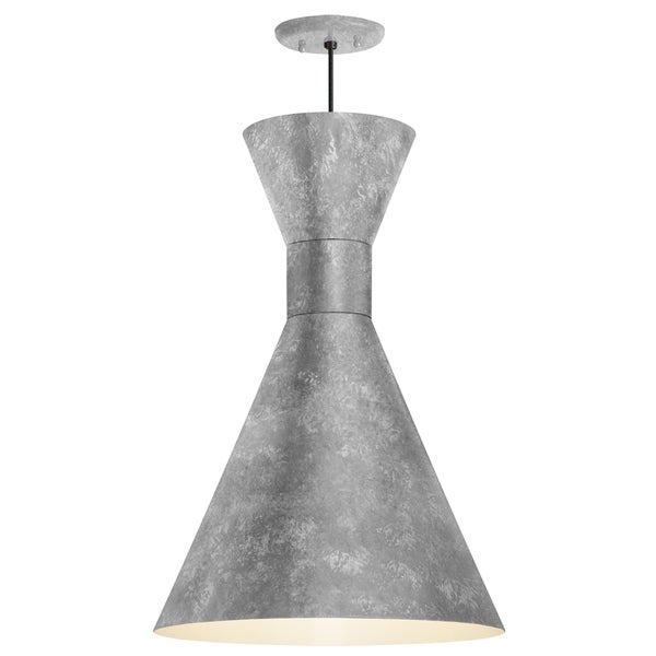 Troy RLM Lighting Mid Century 12-inch Pendant, Galvanized Shade - Galvanized Center Adapter