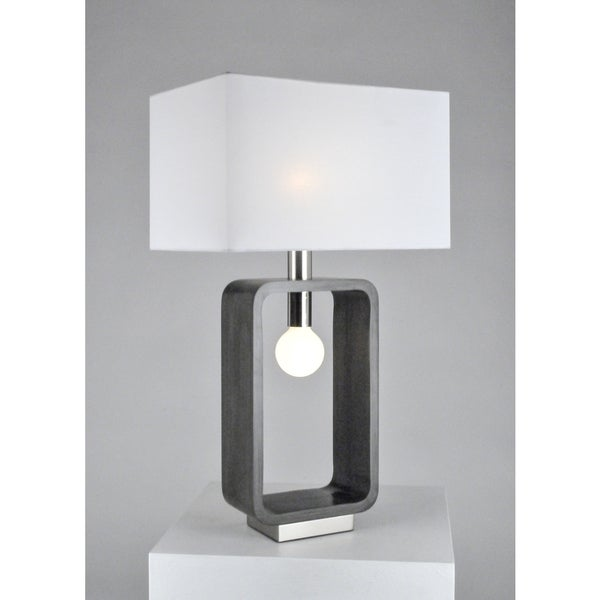 Nova Tracey Rectangular Table Lamp, Charcoal Gray