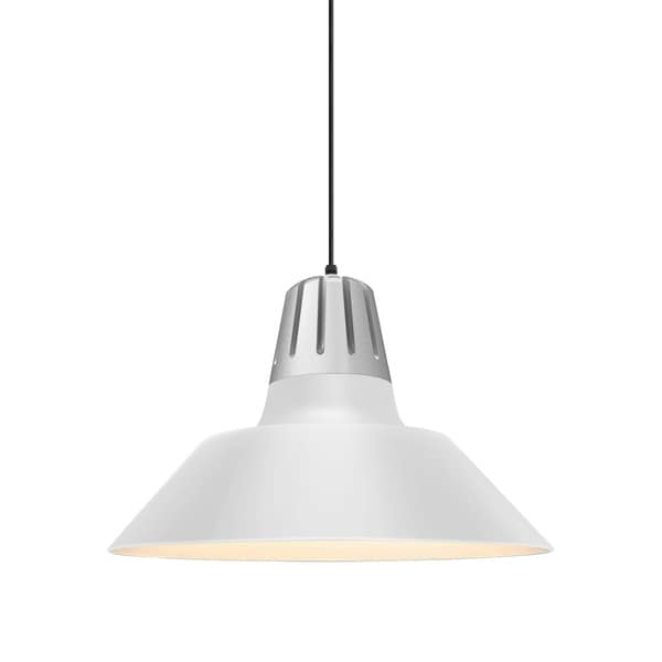 Troy RLM Lighting Heavy Metal Painted Natural Aluminum Pendant, Gloss White 20-inch Shade