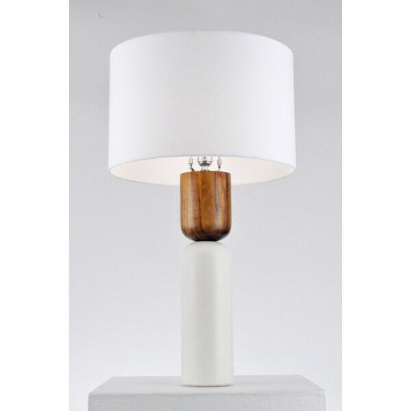 Nova Lighting Totem Table Lamp, Bone White